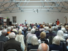 Gosport U3A Pauline Rowson talking to the audience about her crime novels