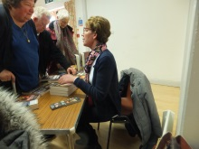 Havant U3A Pauline Rowson signing copies of her crime novels