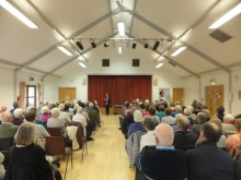 Havant U3A Crime author Pauline Rowson entertaining the audience