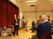 Havant U3A Pauline Rowson showing how she plots her crime novels