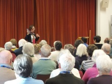 Havant U3A Pauline Rowson talking about her crime novels