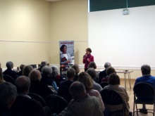 Lyndhurst Pauline Rowson entertaining the audience with tales of murder mystery
