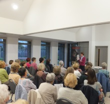 Portchester WI, Pauline Rowson explaining how she plots her crime novels