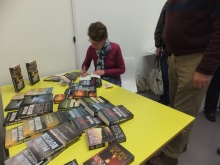 Waterlooville Library- Pauline Rowson signing copies of her crime novels