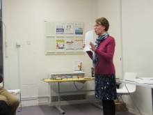 Waterlooville Library- Pauline Rowson explaining how she develops her characters