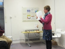 Waterlooville Library- Pauline Rowson explaining how she plots her crime novels