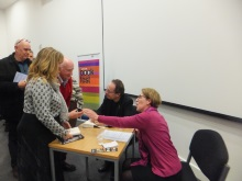 Peter James and Pauline Rowson book signing at Portsmouth BookFest
