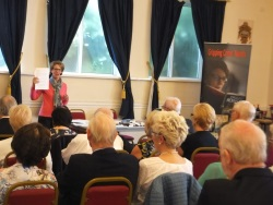 Southampton Probus Pauline Rowson entertains the audience