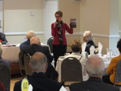 Bournemouth Central Probus Pauline Rowson talking about her 1950 mystery DEATH IN THE COVE