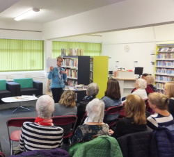 Lockswood Library Pauline Rowson showing how she develops her characters