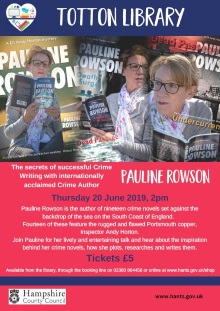 Pauline Rowson's talk at Totton Library