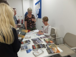 Woolston Library Pauline Rowson signing copies of her crime novels