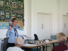 Alverstoke WI Pauline Rowson talking about her 1950 set mystery DEATH IN THE COVE