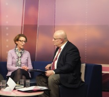 Pauline Rowson chatting to Chris Rider That's Solent TV 3 February 2016