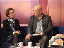 Pauline Rowson with Chris Rider on That's Solent TV