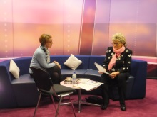 Pauline Rowson with Chrissie Pollard on That's Solent TVo