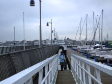 Pauline Rowson on location research Haslar Marina